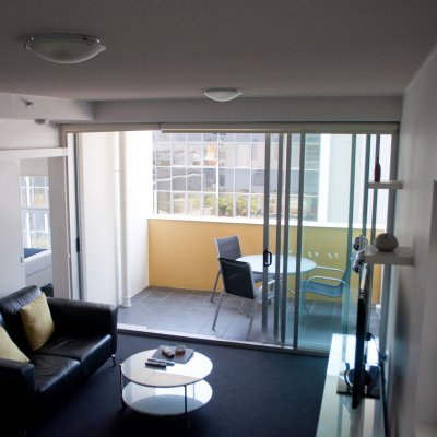 Oxygen Apartments 1 Bedroom Apartment Lounge To Verandah P1