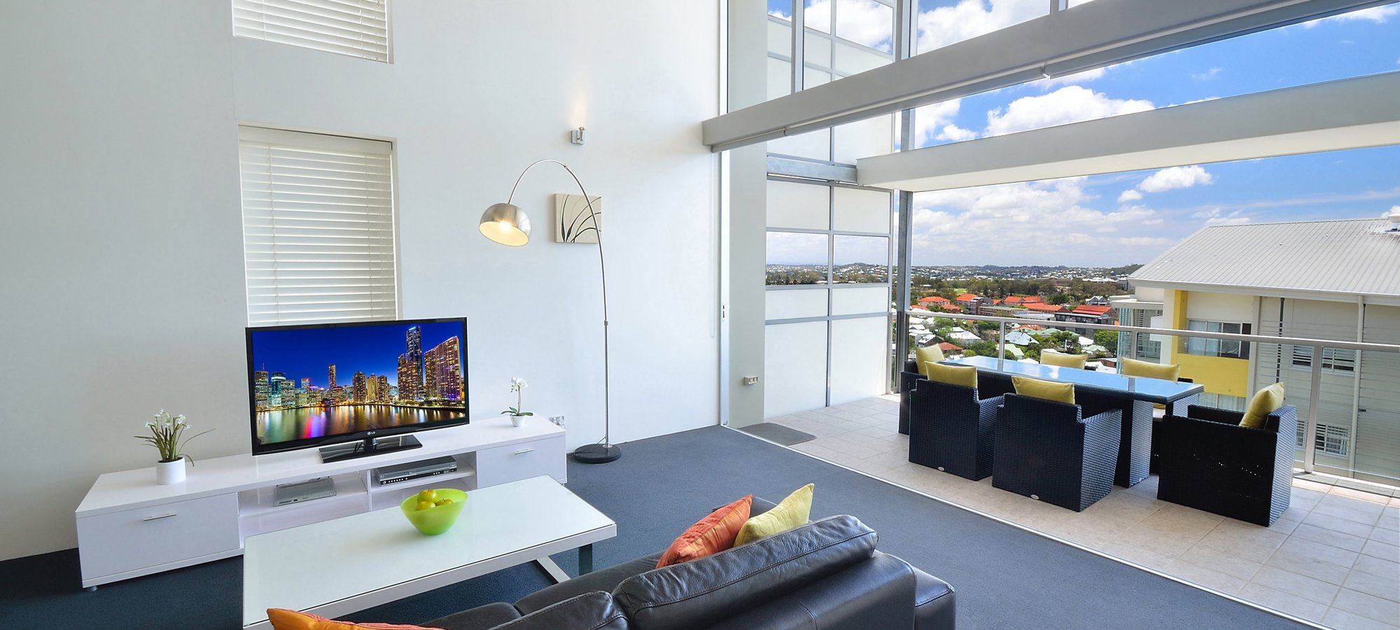 Oxygen Apartments 3 Bed Penthouse Loungeroom And View