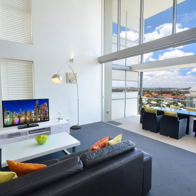 Our 3 Bed Penthouse Lounge-room View Apartments in Brisbane